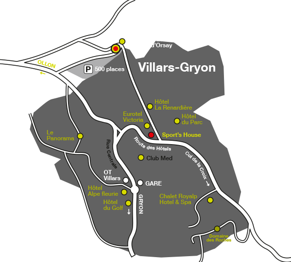 access map to the ski locker